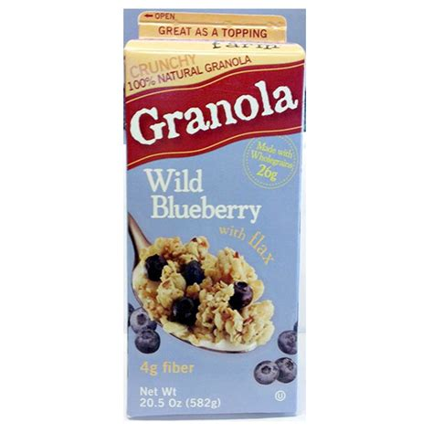 sweet home farm granola blueberry with flax 582g