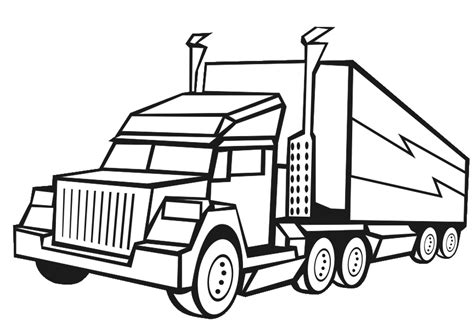 free 18 wheeler coloring pages