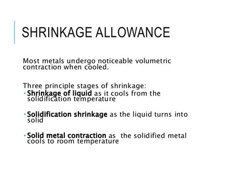 pattern allowances slideshare pattern allownaces