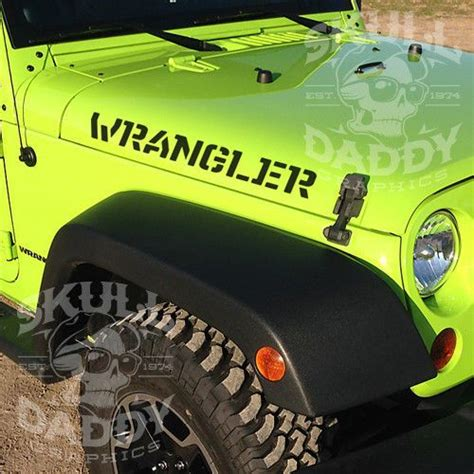Jeep Wrangler Jk Stickers Jeep Wrangler Fender Stencil Stickers Vinyl Decal Jk