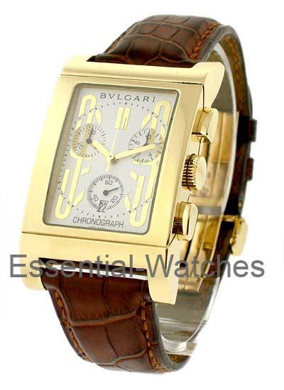 Diskon Bvlgari Rantai Silver Gold bvlgari rettangolo chronograph 49mm in yellow gold rtc49c6lgld yellow gold on with silver