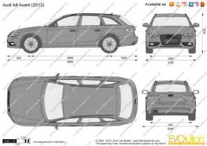 the blueprints vector drawing audi a4 avant