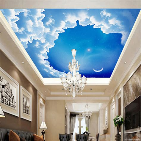 ceiling 3d stereo wallpaper starry night sky photo