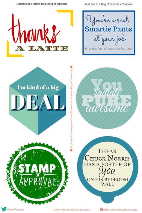 printable gift tags for employee appreciation 16 best images about employee appreciation on pinterest