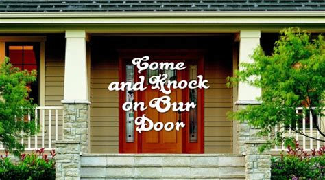 Come And Knock On Door by Come And Knock On Our Door Speaking The In