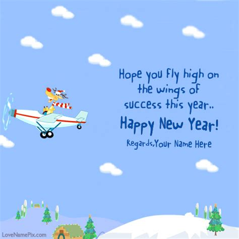 best greetings for new year write name on new year best wishes cards picture