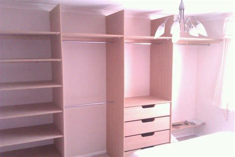 B Q Wardrobe Rail by X4 Sliding Door Wardrobe With Built In Rails And Drawers Cotterell Carpentry
