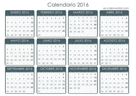 Calendario Almanaque 2016 Calendario 2016 Almanaque 2016