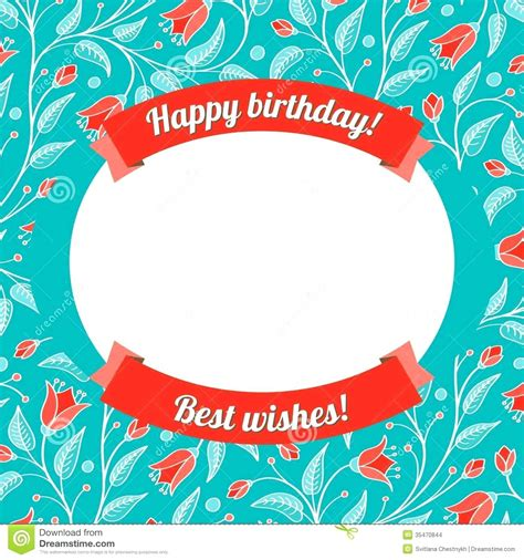 make a birthday card template free template birthday greeting template