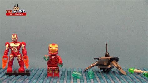 lego marvel superheroes iron man fighting drone