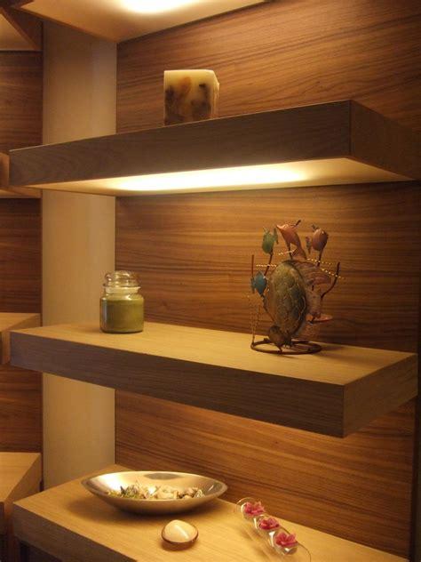 custom  lighted floating shelves  ecostruction llc