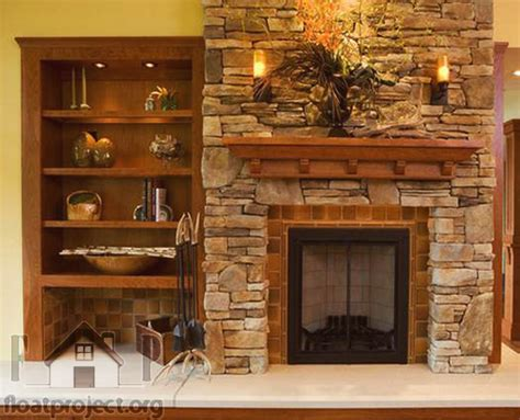 Decorative Stones For Fireplace by Living Room Fireplace With Classic Design Home Designs