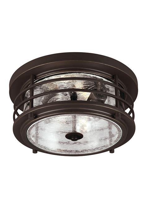 7824402 71 two light outdoor ceiling flush mount antique