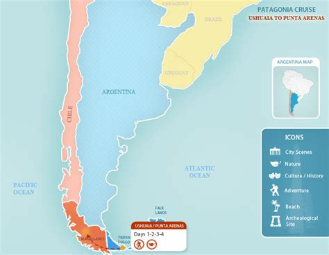 where is horn on the map patagonia cruise argentina vacations by argentina for less