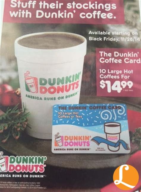 dunkin donuts holiday coffee book  large coffees   living rich  coupons