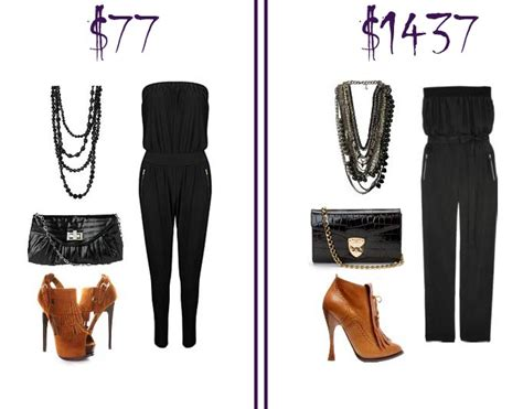 Budget Fashion Takes by Black Jumpsuit Look Low Budget Vs Mega Budget How To