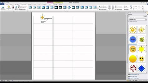 microsoft word sticker label template best and various