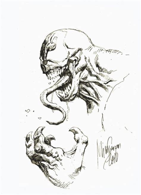 venom sketch by mico suayan for toysrevil silent auction