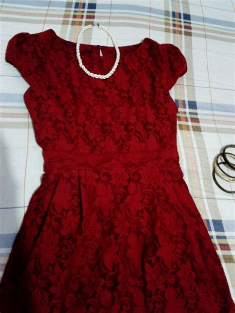 Dress Owl Hoodie Marun Ready owl jual dress cantik murah maroon lace adiens