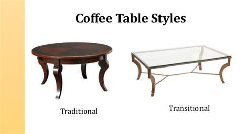 types of coffee tables types and styles of coffee tables