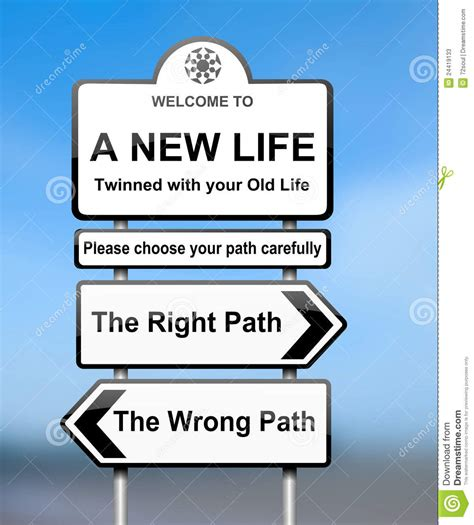 The Of Choosing choosing the right path stock photos image 24419133