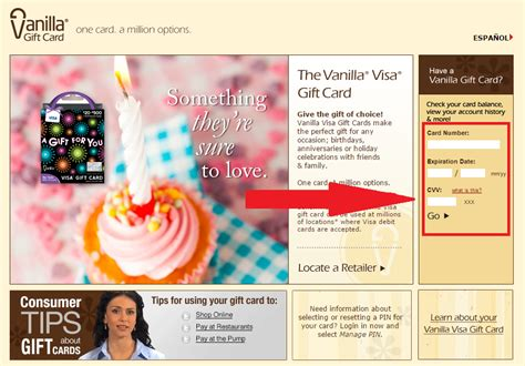 How To Check Balance On Vanilla Gift Card - www vanillavisa com vanilla visa gift card balance