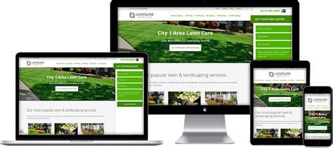 Website Templates For Lawn Care Landscaping Companies Lawnline Websites Landscape Architecture Website Templates