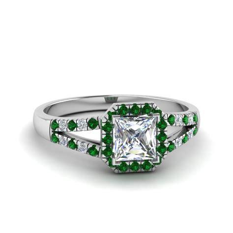 cheap emerald halo engagement rings fascinating diamonds