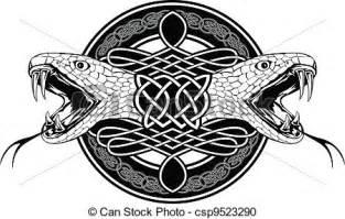 clipart vecteur de motifs celtique serpent les