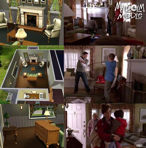 layout of the middle house mod the sims malcolm in the middle the wilkerson s