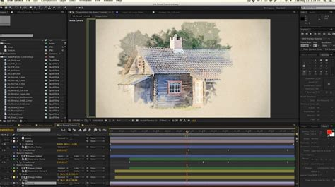 watercolor reveal tutorial ink watercolor reveal in after effects