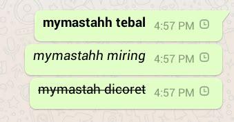 cara membuat huruf tebal di whatsapp bagaimana cara membuat tulisan tebal miring dan dicoret