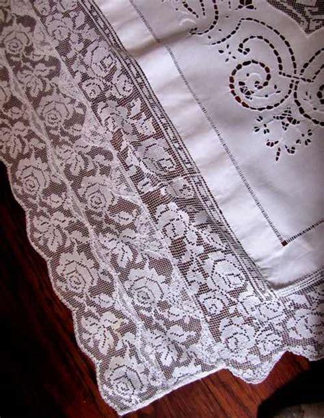 tablecloth 143 vintage banquet size linen tablecloth