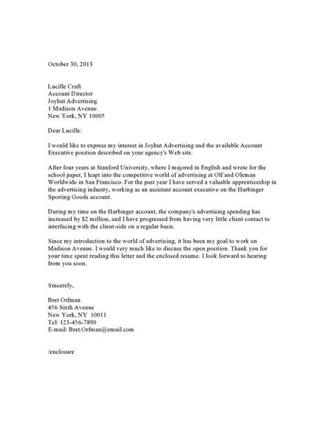Cover Letter Mid Level Marketing by Cover Letter Sles Vault