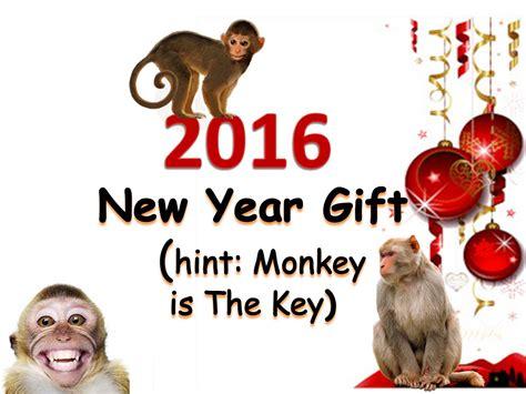 new year monkey gifts best gift idea new year gift idea 2016 monkey is the key