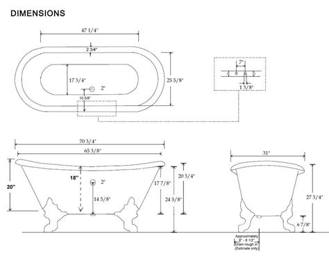 size of bathtub in feet size of bathtub in feet 28 images bathtubs idea