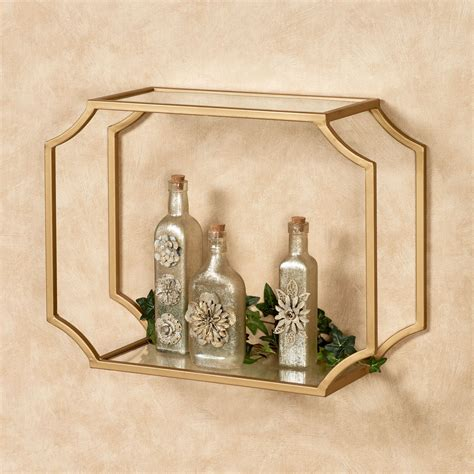 chic gold wall shelf for display