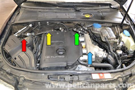 how does cars work 2010 audi a4 engine control audi a4 b6 fixing common vacuum leaks 2002 2008 pelican parts diy maintenance article