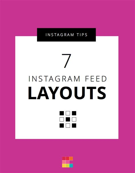horizontal layout instagram 7 types of instagram grid layouts planner tips