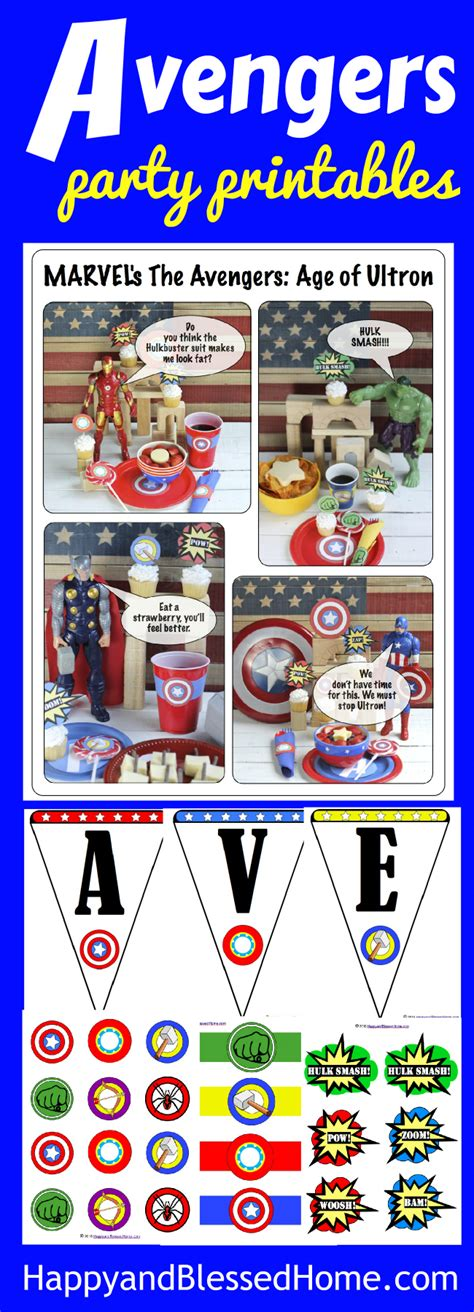 avengers printable party decorations marvel s the avengers age of ultron party with free party