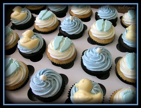 Baby Shower Cupcakes by Swirls Cupcakes It S A Boy Baby Shower Cupcakes
