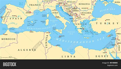 ancient mediterranean sea map mediterranean sea region political vector photo bigstock