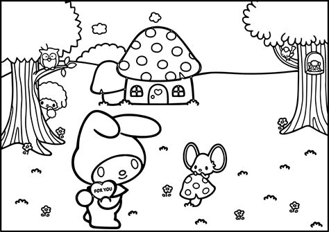 hello kitty and my melody coloring pages hello kitty and my melody coloring pages fun coloring pages