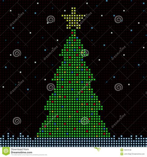digital christmas tree royalty free stock photos image