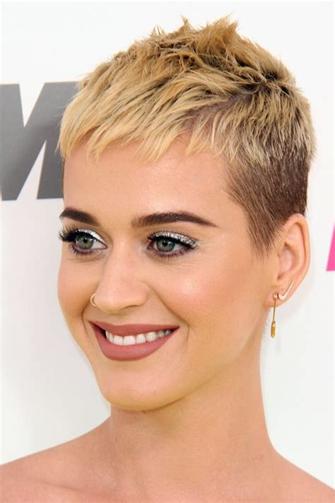 Katy Perry Hairstyles katy perry honey pixie cut hairstyle