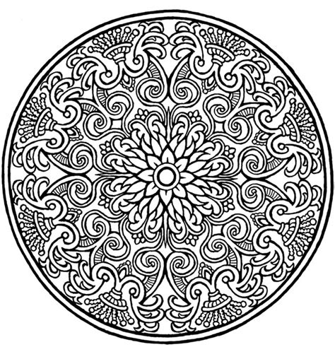 mandala coloring pages of flowers free coloring pages of intricate mandalas