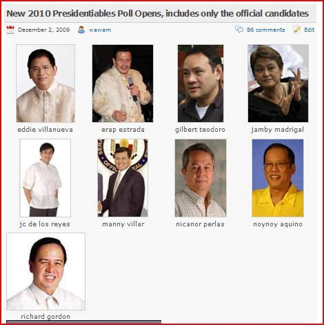 presidential election candidates list tidbits and bytes approved candidates for the 2010