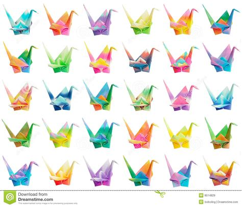 Where Do They Sell Origami Paper - origami crane chart royalty free stock images image 8514829