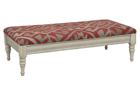 kilim ottoman coffee table chandra kilim bench