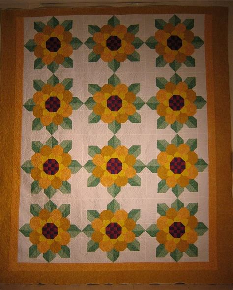 Sunflower Quilt by Sunflowers Beautiful Quilts
